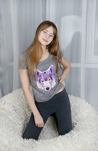 "Футболки family look ""wolves"""