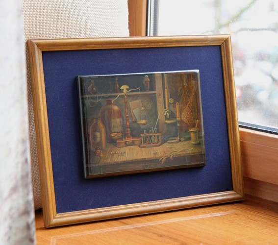 Russian lacquer miniature painting still life